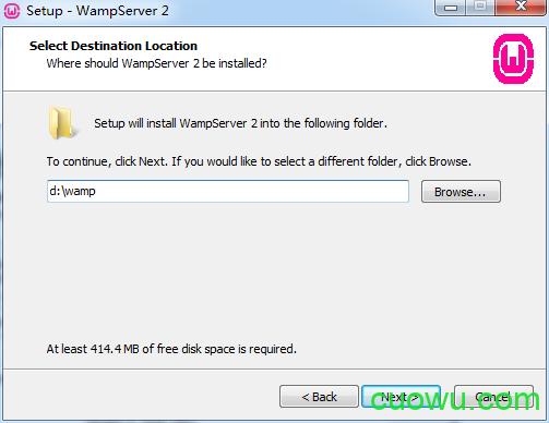选择Wampserver安装目录