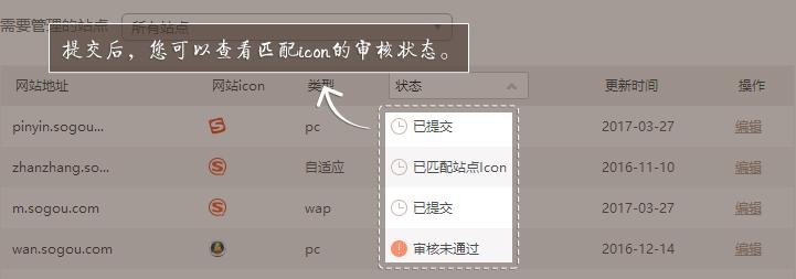 匹配网站icon