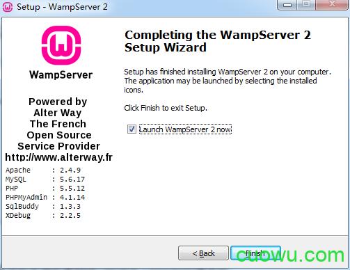 立即启动Wampserver